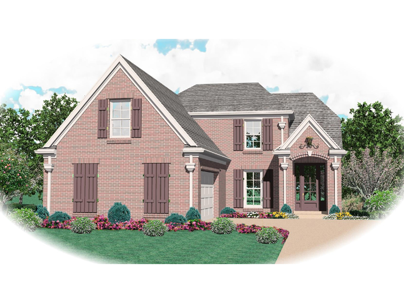 Country French House Plan Front of Home - 087D-0476 | House Plans and More