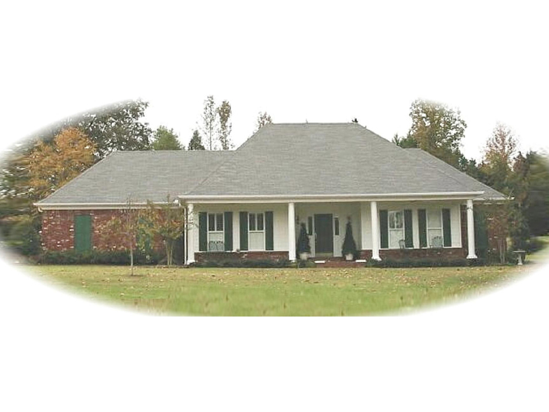 Southern Plantation Plan Front of Home - 087D-0478 | House Plans and More