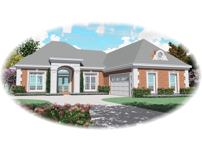 Ranch House Plan Front of Home - 087D-0479 | House Plans and More
