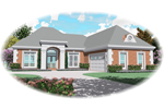 Southwestern House Plan Front of Home - 087D-0479 | House Plans and More