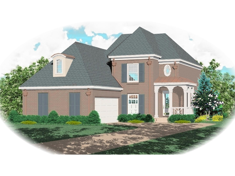 Country French Home Plan Front of Home - 087D-0480 | House Plans and More