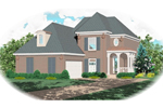 Country French House Plan Front of Home - 087D-0480 | House Plans and More