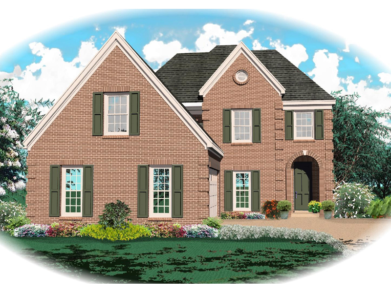 Traditional House Plan Front of Home - 087D-0481 | House Plans and More
