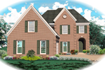 European House Plan Front of Home - 087D-0481 | House Plans and More