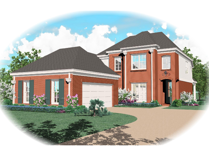 Colonial House Plan Front of Home - 087D-0482 | House Plans and More