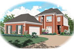 Colonial Floor Plan Front of Home - 087D-0482 | House Plans and More