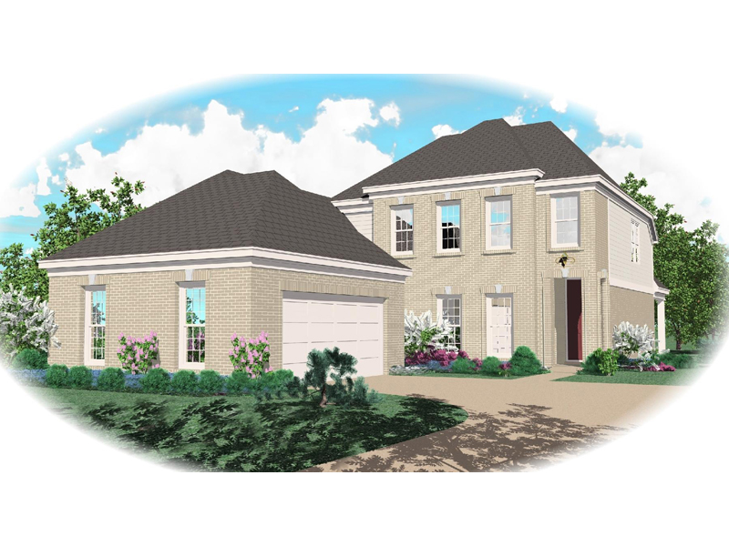 Colonial House Plan Front of Home - 087D-0483 | House Plans and More