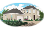 European House Plan Front of Home - 087D-0483 | House Plans and More