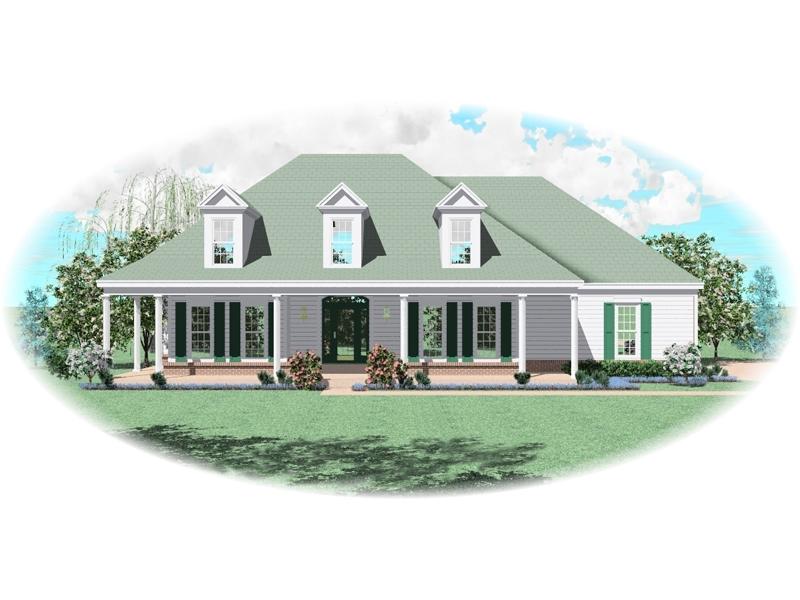 Symmetrical Southern Plantation Style Home