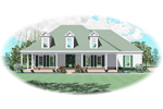 Symmetrical Southern Plantation Style Home