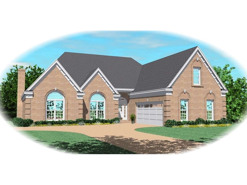 Southern House Plan Front of Home - 087D-0491 | House Plans and More