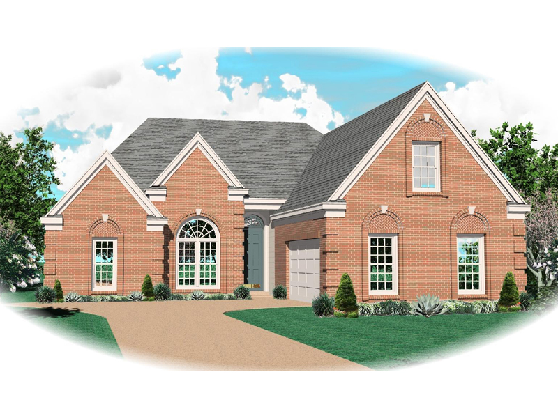 European House Plan Front of Home - 087D-0492 | House Plans and More