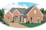 Country House Plan Front of Home - 087D-0492 | House Plans and More