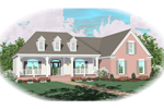 Farmhouse Plan Front of Home - 087D-0493 | House Plans and More