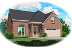 European House Plan Front of Home - 087D-0495 | House Plans and More