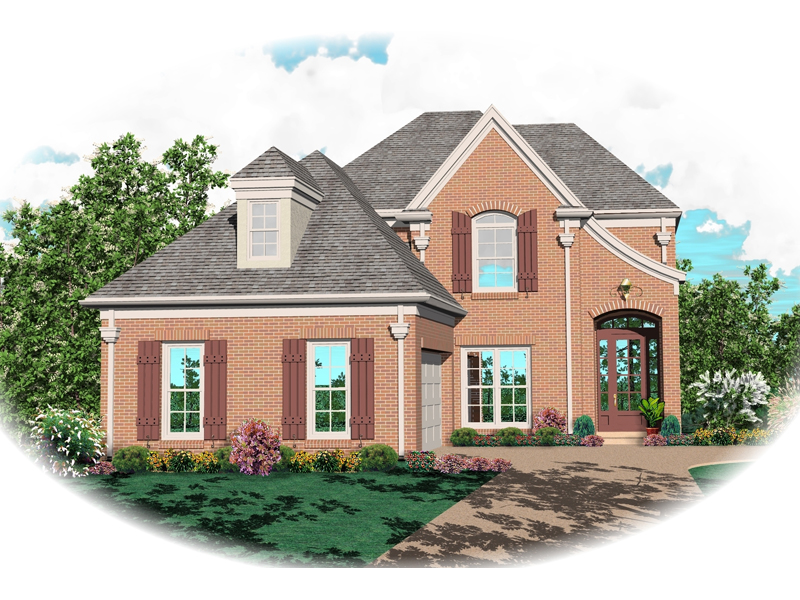 Colonial House Plan Front of Home - 087D-0496 | House Plans and More