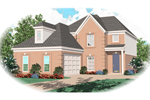 Traditional House Plan Front of Home - 087D-0497 | House Plans and More