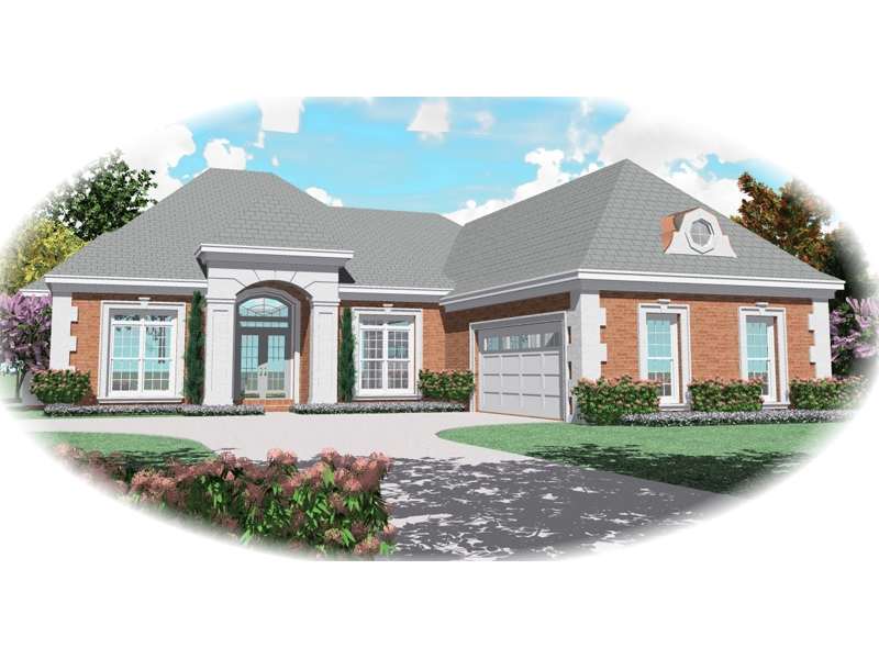 Ranch House Plan Front of Home - 087D-0498 | House Plans and More
