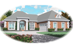 European House Plan Front of Home - 087D-0498 | House Plans and More