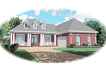 Southern Plantation Plan Front of Home - 087D-0499 | House Plans and More