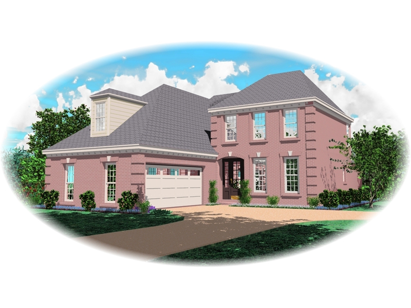 European House Plan Front of Home - 087D-0508 | House Plans and More