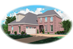 Colonial Floor Plan Front of Home - 087D-0508 | House Plans and More