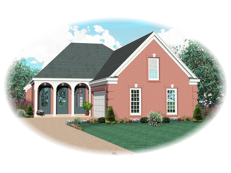Traditional House Plan Front of Home - 087D-0511 | House Plans and More