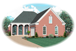 Country House Plan Front of Home - 087D-0511 | House Plans and More