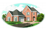 Traditional House Plan Front of Home - 087D-0516 | House Plans and More