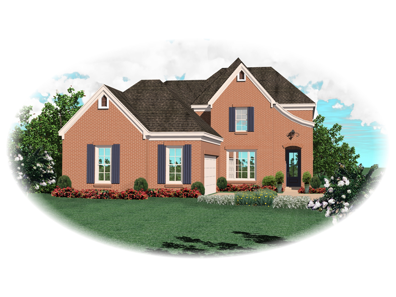Colonial House Plan Front of Home - 087D-0518 | House Plans and More