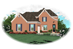 Traditional House Plan Front of Home - 087D-0518 | House Plans and More