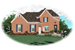 Traditional House Plan Front of Home - 087D-0519 | House Plans and More