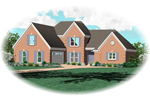 European House Plan Front of Home - 087D-0523 | House Plans and More