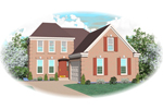 Colonial Floor Plan Front of Home - 087D-0525 | House Plans and More