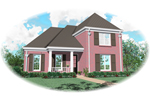 Colonial Floor Plan Front of Home - 087D-0530 | House Plans and More