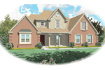 Farmhouse Plan Front of Home - 087D-0533 | House Plans and More