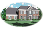 Colonial Floor Plan Front of Home - 087D-0536 | House Plans and More