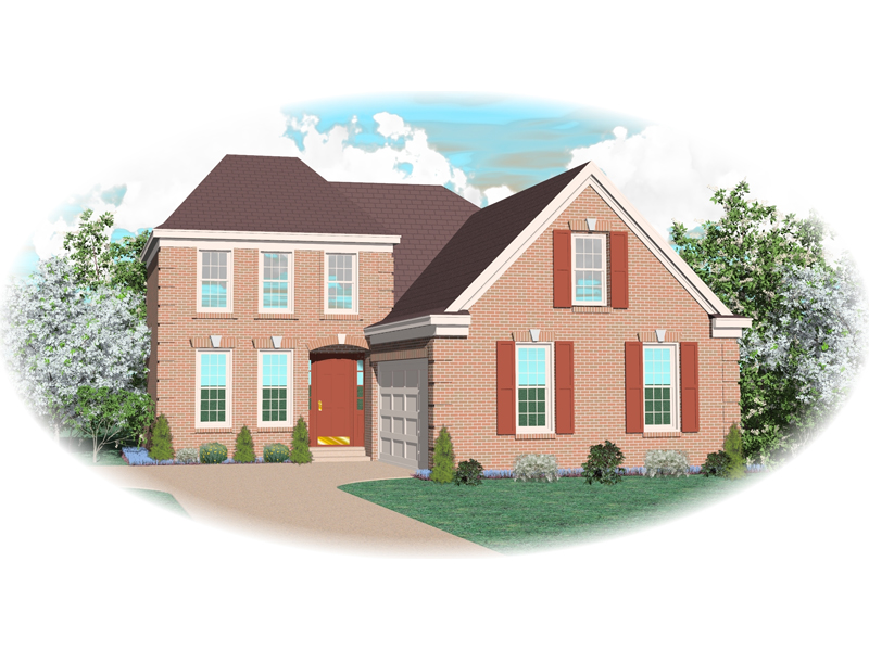 Colonial Floor Plan Front of Home - 087D-0537 | House Plans and More