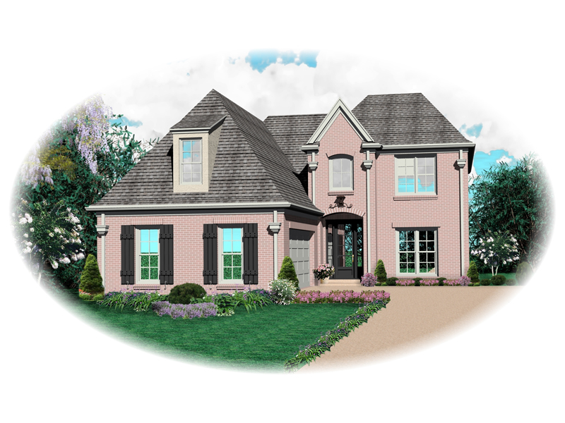 European House Plan Front of Home - 087D-0539 | House Plans and More
