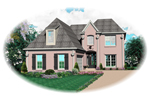 Tudor House Plan Front of Home - 087D-0539 | House Plans and More