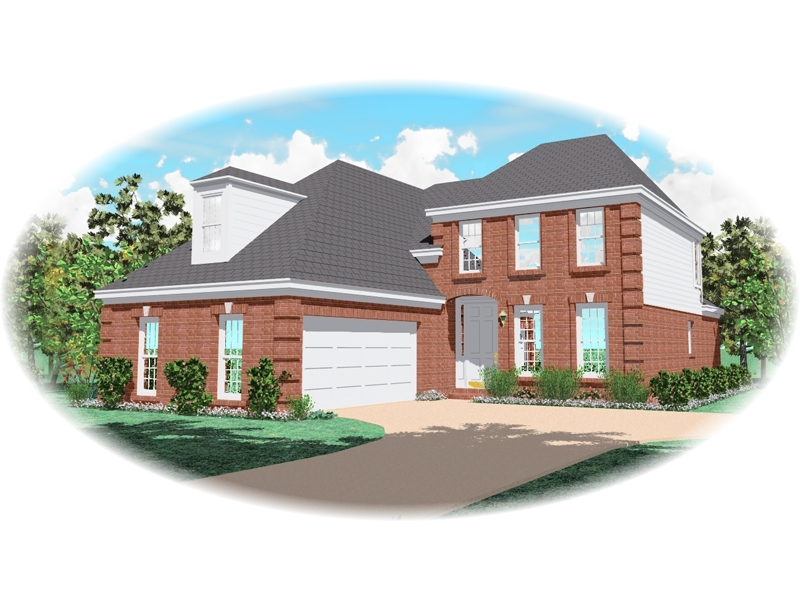 Traditional House Plan Front of Home 087D-0540