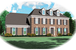 Colonial Floor Plan Front of Home - 087D-0542 | House Plans and More