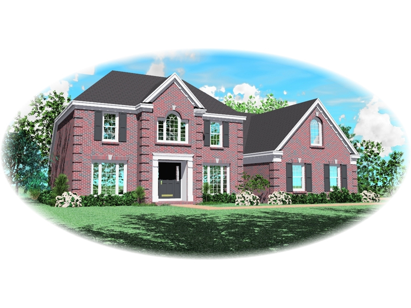 Colonial House Plan Front of Home - 087D-0546 | House Plans and More