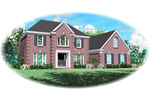 Colonial Floor Plan Front of Home - 087D-0546 | House Plans and More