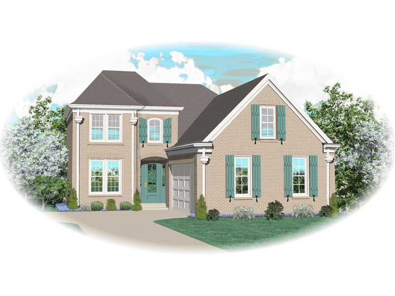 European House Plan Front of Home - 087D-0547 | House Plans and More