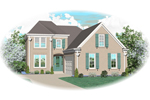 Colonial Floor Plan Front of Home - 087D-0547 | House Plans and More