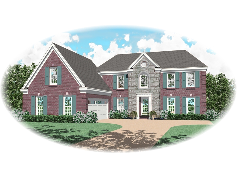 European House Plan Front of Home - 087D-0550 | House Plans and More