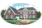 Traditional House Plan Front of Home - 087D-0550 | House Plans and More