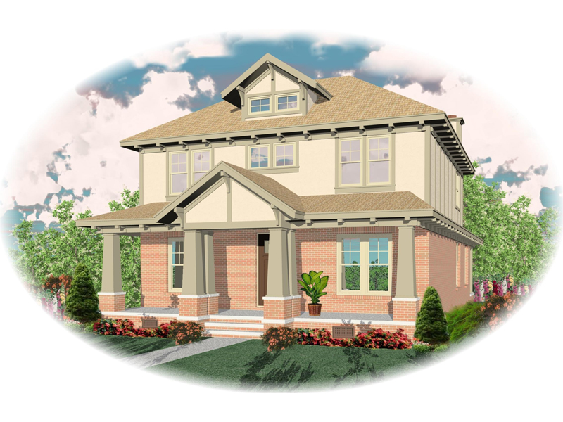 Arts and Crafts House Plan Front of Home - 087D-0551 | House Plans and More