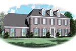 Greek Revival Home Plan Front of Home - 087D-0559 | House Plans and More